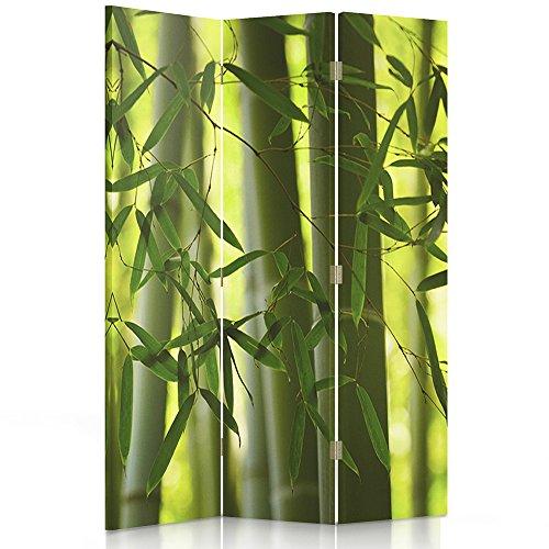 Feeby Frames Paravent déco Orient Impression 1 Face 3 Panneaux Vert 110x150 cm