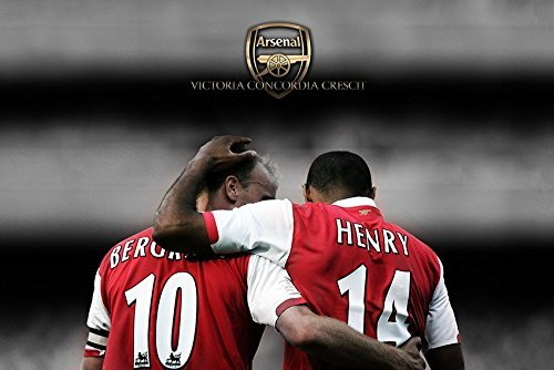 makeuseof Arsenal Legends Dennis bergkamp and Thierry Henry Poster Art for Living Room in Canvas Print