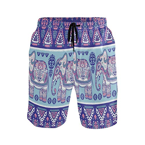 Sawhonn India Elefante De La Jungla Antigua Bañador para Hombre Pantalones Cortos Bañadores Shorts para Hombres Natacion Piscina Surf Playa