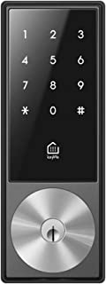 KeyWe Smart Lock,Bluetooth and Z-Wave Plus Enabled,Compatible with Alexa,Works with Smartthings,Gray,Ansi Grade 2 Deadbolt Included