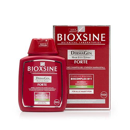Forte Shampoo bei starkem Haarausfall- für Frau und Mann | mit pflanzlichem Haarwaschmittel das Haarwuchs beschleunigen | schnelles Haar-wachstum | Haarwuchs-mittel 300 ml | von Bioxsine (300)