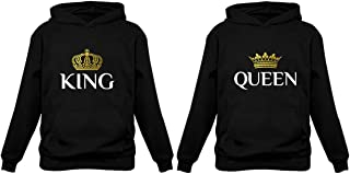 Tstars King & Queen Matching Couple Hoodie Set His & Hers Hoodies