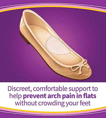 Dr. Scholl's HIDDEN ARCH SUPPORTS for Flats (One Size) // Discreet Supports with Soft Gel Comfortably Support Arches to…