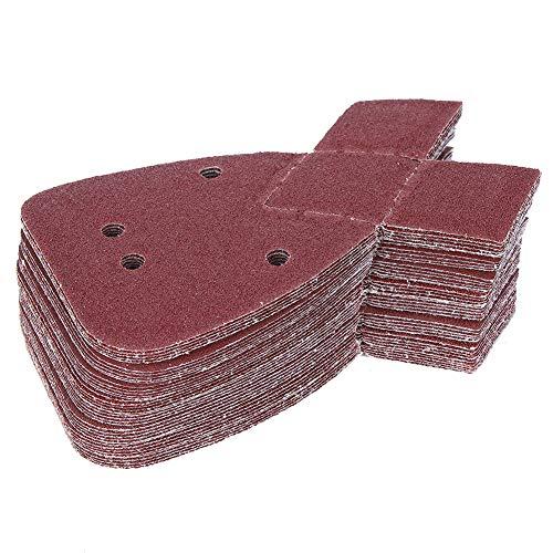 Papel de lija de la forma de las filias, disco de lijadora roja 0.1mm / 0.004in 170mm Partículas de alúmina con alúmina para el vidrio de piedra de metal