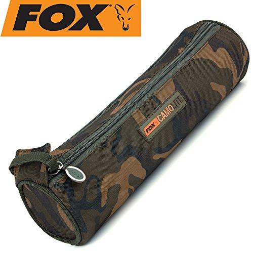 FOX Camolite Spool case Large 35x9,5cm - Tackletasche für Angelspulen, Angeltasche für Angelschnur & Vorfachschnur, Spulentasche