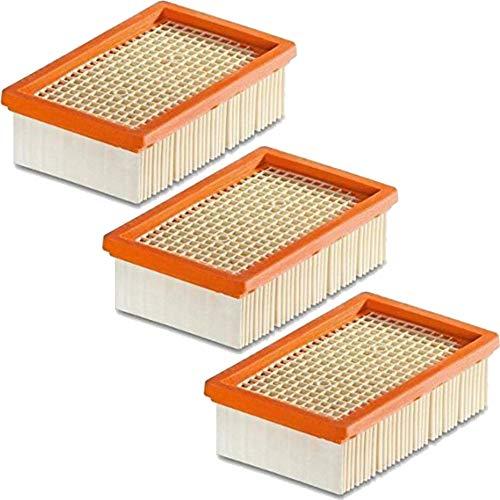 Preisvergleich Produktbild 1-10 Stück Flachfilter für KÄRCHER - ersetzt original Filter wie 2.863-005.0 für MV 4 5 6 P Premium (WD5,  WD 5,  MV5 Premium