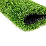 miwaimao Césped artificial, realista, de lujo, alfombra de césped sintético grueso, perfecto aislamiento térmico para interiores y exteriores (tamaño, 79 x 118 pulgadas), 79 x 79 pulgadas