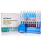 Teeth Whitening Gel Kit, MS.DEAR Dental Equipment 44% Peroxide Dental Bleaching System LED Light Oral Gel Kit Tooth Whitener