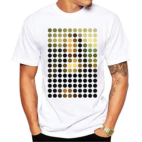 Miwaimao - Camiseta de manga corta para hombre, diseño minimalista Gq46707. S