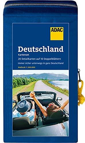 ADAC StraßenKarten Kartenset Deutschland 2021/2022 1:200.000: 20 Detailkarten auf 10 Doppelblättern (ADAC KartenSet Deutschland)