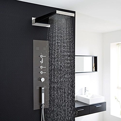 Hudson Reed Concealed Thermostatic Shower Panel With Waterfall Head,...