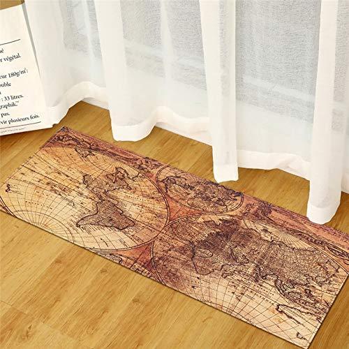 HLXX Alfombra de cocina de grano de madera para dormitorio, entrada, pasillo, alfombra antideslizante para baño, alfombra A17, 50 x 80 cm