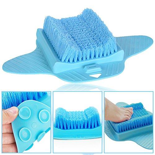 EPHVODI Fußbürste Scrubber Reiniger Bad Massagegerät Unterlegscheiben für die Dusche (Blau)