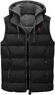 Men Hoodies Tank Tops, Male Solid Zipper Sleeveless Vest Jacket Coat Outwear Tops