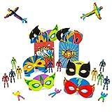10 Bolsas de Fiesta de Superhéroes con rellenos - Incluyen varios juguetes de superhéroe...