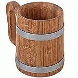 Bonpos - Jarra de cerveza (0,5 L, con aro de acero inoxidable)