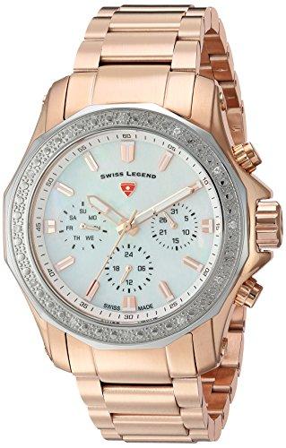 Swiss Legend Reloj analógico para Mujer de Cuarzo Suizo con Correa en Acero Inoxidable 16201SM-RG-22-SB