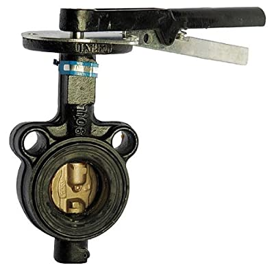Milwaukee Valve - MW-233E 6 - Butterfly Valve, Wafer, Pipe Size 6 In from Milwaukee Valve