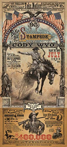 Home of Art Cody Wyoming Buffalo Bill Stampede Rodeo Poster by Bob Coronato