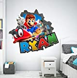 Pegatinas de pared Kart Splatoon calcomanías de pared personalizadas pegatinas de pared 3D decoración artística