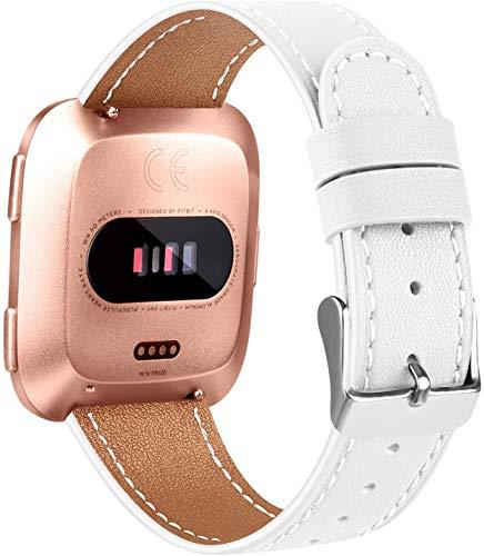 Reloj de Correa Cuero Compatible con Fitbit Versa 2 / Versa 2 SE/Versa Lite/Versa smartwatch, Hombre Repuesto La Correa (Pattern 5)
