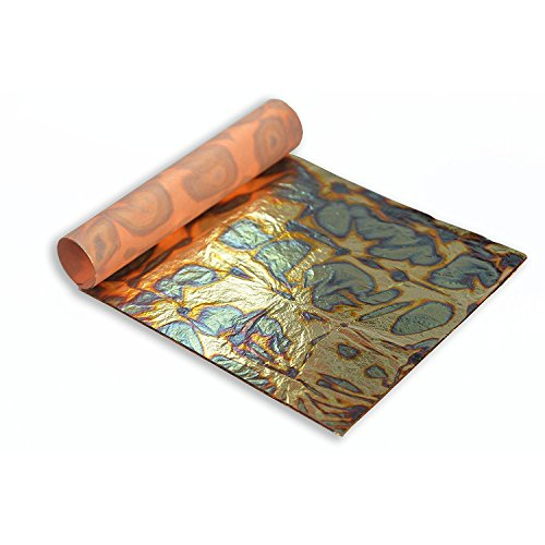Hoja de Oro Abigarrada (Azul), 14x14 cm, Librillo de 25 Hojas
