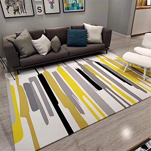 Decoracion Salon Alfombra de salón rectángulo Amarillo Moderno Suave y a Prueba de Humedad alfombras Salon alfombras de habitacion Juvenil 180X280CM 5ft 10.9' X9ft 2.2'