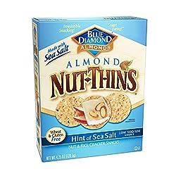 Blue Diamond Gluten Free Nut Thins Cracker Crisps, Hint of Salt, 4.25 oz