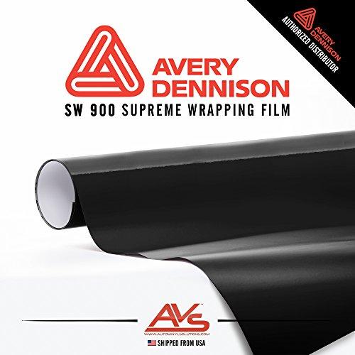 Avery Gloss Black SW900-190-O - Supreme Wrap (SW) Gloss Vinyl Car Wrap Sheet Roll 5ft x 6ft