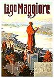 Vintage Lago Maggiore, Italien-Reise-Poster,