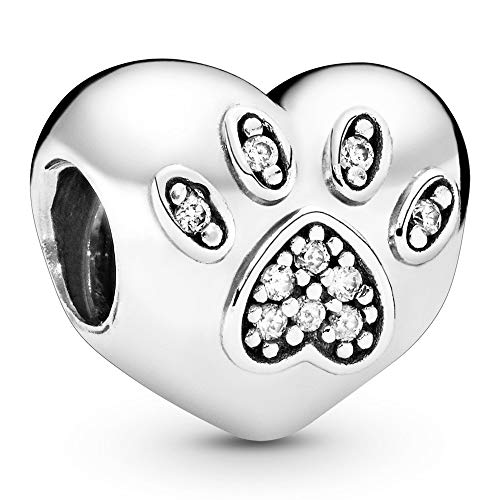 Pandora Jewelry I Love My Pet Cubic Zirconia Charm in Sterling Silver