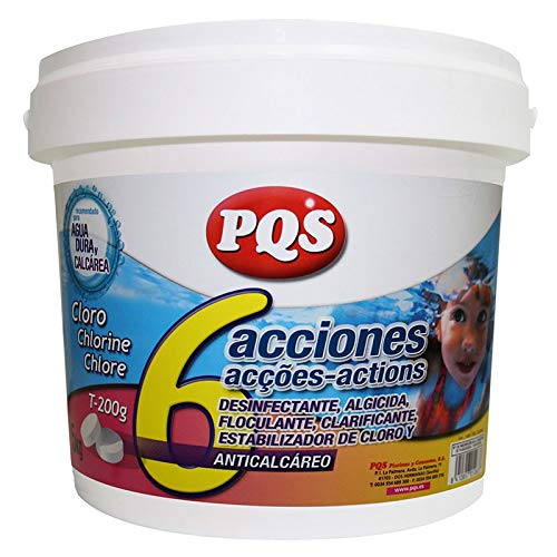 PQS Cloro 6 Acciones con antical T-200 g 5 Kg