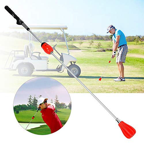 Golf Swing Trainer Aid, Sport Golf Swing Trainer Training Warm-Up Stick Equipment Adjustable force for Adult Practicing Training Suit for Indoor Practice Chipping Hitting Golf Accessories(Red)