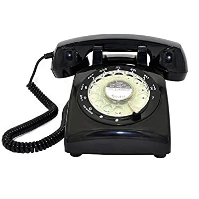 Retro Rotary Telephone, Glodeals 1960's Retro Design Classic Style Dial Telephone for Home and Office
