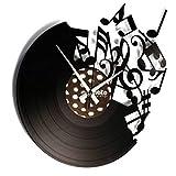 Disc'O'Clock DISCOCLOCK - Orologio in Vinile Silenzioso e Personalizzabile - Music - Idea Regalo Disco Vinile per Musicisti, DJ E PRODUTTORI