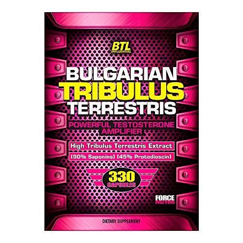 BTL - Bulgarian Tribulus Terrestris 330 Capsules x 500mg 90% Saponins 45% Protodioscin Natural Herbal Supplement Boosts Тestosterone