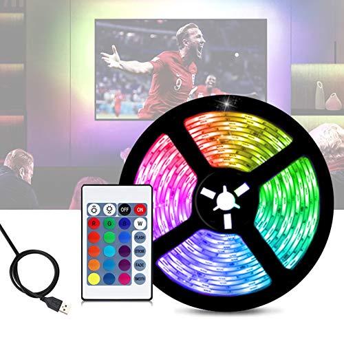 TV Led Backlight,LED Strip Lights6.56ft for 40-60in TV with Remote - RGB 5050 LEDs Color Changing Lights for Room Bedroom
