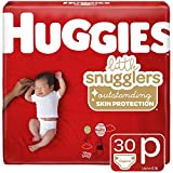 Huggies Little Snugglers Baby Diapers, Size Preemie, 30 Count