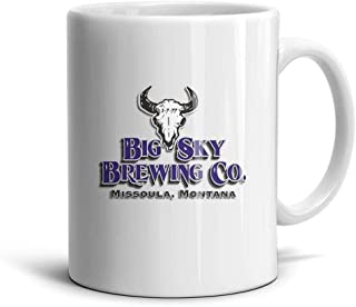 HUIKJ Ceramic Coffee Mug Daily Use Big-Sky-Brewing-Moose-Drool- Mug Cup Ceramic