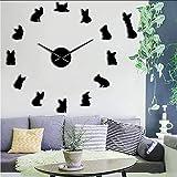 Makeyong Bulldog Francés DIY Gigante Reloj De Pared Francia Perro Nacional Grande Moderno Reloj De Pared Frenchie Reloj De ParedRazas Amantes De Los Perros Regalo27Inch