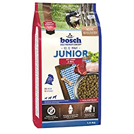 Bosch HPC Junior with Lamb & Rice | Dog dry food for raising nutritionally sensitive puppies, 1 x 1 kg