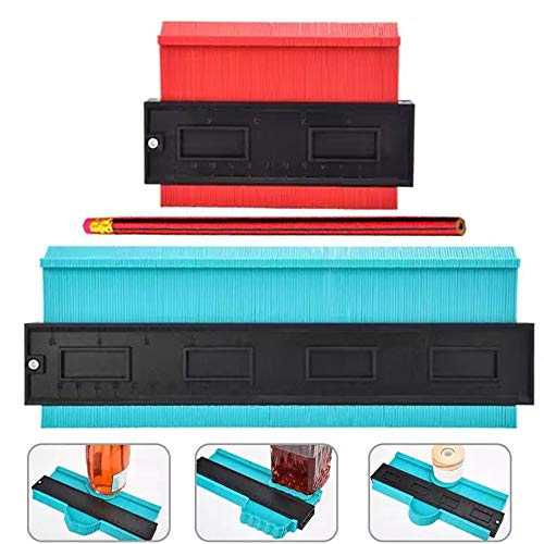 Contour Gauge 10 Inch Profile Gauge and 5 Inch Shape Duplicator, HYLONG Plastic Contour Gauge Precisely Copy Irregular Shapes For Perfect Fit and Easy Cutting