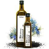 Premium Schwarzkümmelöl Bio von Steinberger | kaltgepresst, gefiltert und 100% naturrein | 250 ml Glasflasche | gewonnen aus echtem Schwarzkümmel (Nigella Sativa) aus biologischem Anbau in Ägypten