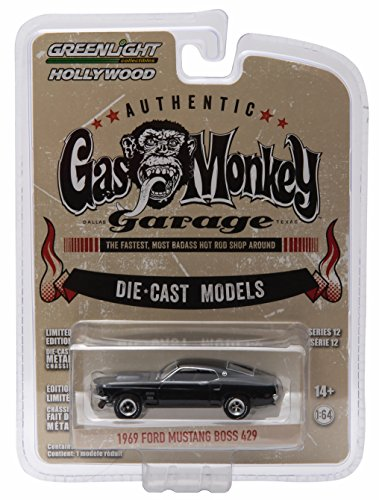 Greenlight 1969 Ford Mustang BOSS 429 from The Show Gas Monkey Garage GL Hollywood Series 12 2016 Collectibles Limited Edition 1:64 Scale Die Cast Vehicle