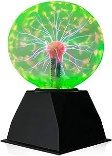 Luz de bola de plasma,6 Pulgadas Luz de Plasma Mágica, Lámpara Estática de Globo Táctil Bola de Plasma Sensible al Sonido,Novedad Luces Nocturnas