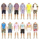 Miunana 5 Ropas Vestidos para Ken Dolls (Seleccionado Al Azar)