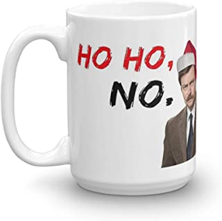 Tyna Ho Parks and Rec, Ron Swanson Xmas, meme greeting cards Suitable For Hot And Cold Drinks 15 Oz
