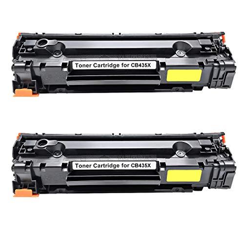 Toner Cartridge voor Hp Laserjet P1102 / M1212nf, Cb435x / Ce285x Compatible, 2000 pagina's per zwart size 2 x zwart.
