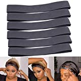 6Pcs/Lot Wig Edge Elastic Band With Adjustvelcro, Edge Slayer For Salon 58Cm Edge Grip Band 3.5Cm Width Edge Laying Band For Baby Hair Adjustvelcro Headband For Closure Frontal Wigs Lay Down