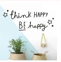 Pegatinas De Pared Decoración De Sala De Estar Las Novelas Quieren Felicidad Y Alegría Arte Extraíble Mural De Vinilo Deco...